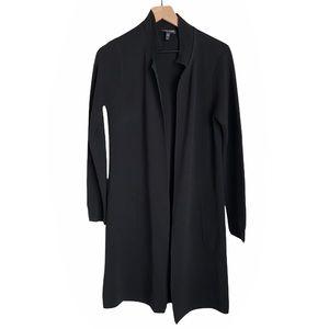 Eileen Fisher silk blend cotton open cardigan Sm